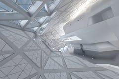 Moderner leerer Atrium- oder Halleninnenraum Stockbild