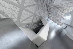 Moderner leerer Atrium- oder Halleninnenraum Lizenzfreie Stockfotos