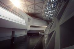 Moderner leerer Atrium- oder Halleninnenraum Stockbilder