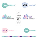 Moderner Logodesignsatz Stockfotos