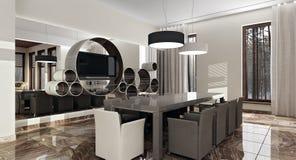 Moderner Luxusinnenraum im Tageslicht lizenzfreie abbildung