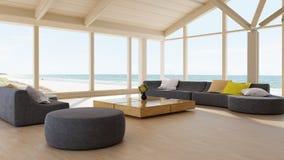 Moderner Luxuxwohnzimmerinnenraum stock abbildung