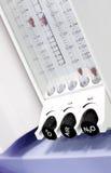 Moderner medizinischer Apparat des Rotadurchflussmessers Stockfotografie