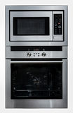 Moderner metallischer Ofen und Mikrowelle lizenzfreie stockfotografie