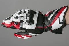 Moderner moto Sporthandschuh Stockfoto