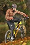 Moderner MTB Radfahrer Stockfotografie