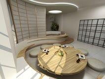 Moderner orientalischer Innenraum Stockfotos