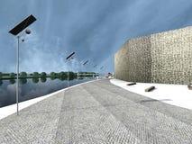 Moderner Park in der Insel stockfoto