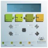 Moderner Puzzle-Geschäft Infographic-Hintergrund Lizenzfreies Stockfoto