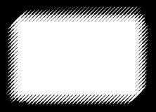 Moderner Rahmen für foto durch Vektorhalbton zeichnet Stockfotos