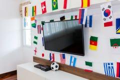 moderner fu ball spieler im aktions logo ball auf feuer strafsto vektor abbildung bild. Black Bedroom Furniture Sets. Home Design Ideas