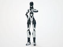 Moderner Roboter Cyborg schätzen/3d wie Stockbilder
