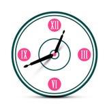 Moderner Roman Numeral Analog Clock Symbol lizenzfreie abbildung