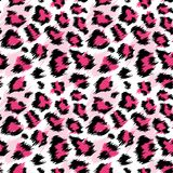 Moderner rosa Leopard-nahtloses Muster Stilisierter beschmutzter Leopard-Haut-Hintergrund für Mode, Druck, Tapeten-Gewebe vektor abbildung
