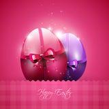 Moderner rosa Ostern-Hintergrund stockfotos