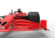 Moderner roter Sportrennwagen lokalisierte lizenzfreie abbildung