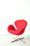 Moderner roter Stuhl Stockfoto