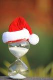 Moderner Sanduhr- und Weihnachtscountdown Lizenzfreies Stockbild