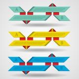 Moderner Satz Bänder infographics stock abbildung
