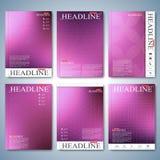 Moderner Satz der Broschüre, des Fliegers, der Broschüre, der Abdeckung oder des Jahresberichts in der Größe A4 für Ihr Design Au vektor abbildung