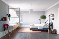 Moderner Schlafzimmerinnenraum Stockbild