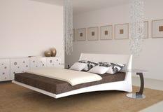 Moderner Schlafzimmerinnenraum. Stockfotos