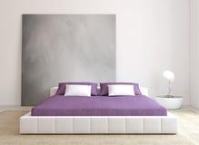 Moderner Schlafzimmerinnenraum. Lizenzfreies Stockfoto