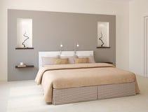 Moderner Schlafzimmerinnenraum. Stockbild