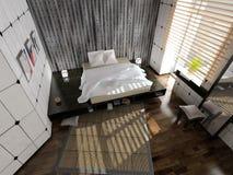 Moderner Schlafzimmerinnenraum lizenzfreies stockfoto