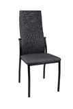 Moderner schwarzer grauer Stuhl lokalisiert auf weißem Hintergrund Front View stockfotografie