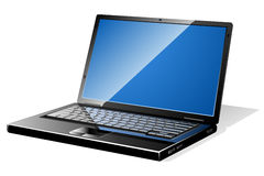 Moderner schwarzer Laptop vektor abbildung