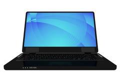 Moderner schwarzer Laptop Stockfotografie