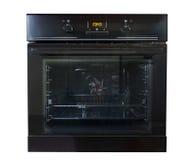 Moderner schwarzer Ofen lokalisiert lizenzfreie stockbilder