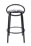 Moderner schwarzer Stuhl lokalisiert auf weißem Hintergrund Zebrasitz lizenzfreies stockfoto