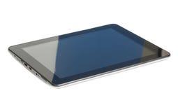 Moderner schwarzer Tabletten-PC lokalisiert auf weißem Hintergrund stockbild