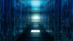 Moderner Serverraum lizenzfreie abbildung