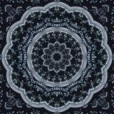 Moderner silberner schwarzer Uhrkaleidoskopmuster-Zusammenfassungshintergrund Abstrakter surrealer Uhrmusterkaleidoskop Schwarz-U vektor abbildung