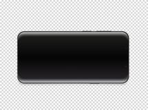Moderner Smartphone mit leerem Bildschirm Vektor stock abbildung