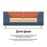 Moderner Sofa Vintage Style Lizenzfreies Stockbild