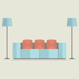 Moderner Sofa Vintage Style Stockbild