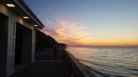 moderner Sonnenuntergang Stockfotografie
