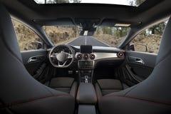 Moderner Sportwageninnenraum Lizenzfreies Stockbild