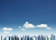 Moderner Stadthintergrund Lizenzfreies Stockfoto
