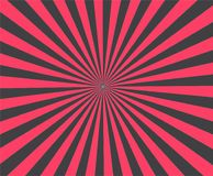 Moderner Streifen strahlt roten Hintergrund aus Vektor brust Illustration Stockbilder
