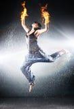 Moderner Tanz der jungen Frau Lizenzfreies Stockbild