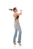 Moderner Tanz des jungen weiblichen Tanzenjazz Stockfoto