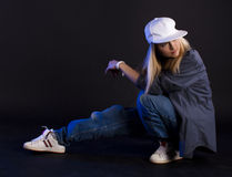 Moderner Tanz. Hip-hop. Stockbilder