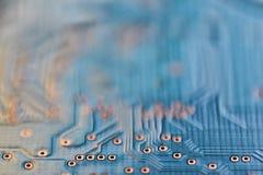 Moderner Technologiehintergrund des abstrakten Mikrochip Cyberstromkreises Stockfotografie