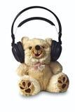 Moderner Teddybär mit Kopfhörern Lizenzfreie Stockbilder