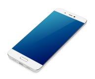 Moderner Touch Screen Smartphone lokalisiert auf Weiß Lizenzfreie Stockfotografie